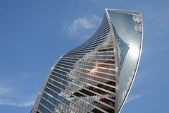 Центр города Москвы Examle современной архитектуры Москвы Стоковое фото RF