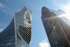 Центр города Москвы Examle современной архитектуры Москвы Стоковая Фотография RF