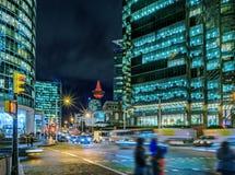 Центр города на больших megapolis на ноче Стоковое фото RF