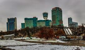 Центр города Ниагарского Водопада, Онтарио, Канада стоковое изображение