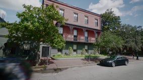 Центр города саванны, Georgia, США видеоматериал