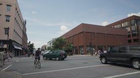 Центр города саванны, Georgia, США сток-видео