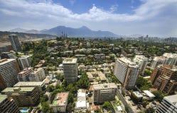Центр города Сантьяго - Чили Стоковое фото RF