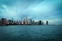Центр города Чикаго и взгляд озера Мичиган панорамный, Иллинойс, США стоковые изображения rf