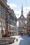 Центр города Bern, Швейцарии Стоковые Изображения