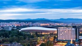 Центр города Cluj Napoca как увидено от холма Cetatuia близко мимо Стоковое фото RF