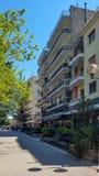Центр города Serres, Греции стоковые изображения rf