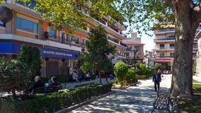 Центр города Serres, Греции стоковая фотография rf