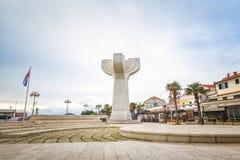 Центр города Vodice, Хорватии стоковое изображение rf