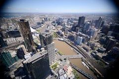 Центр города Австралия Мельбурна Стоковые Изображения
