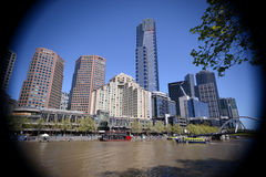 Центр города Австралия Мельбурна Стоковые Фото