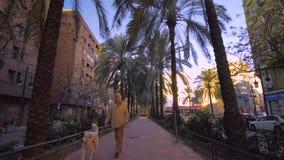 Центр города Валенсии Испании с современной архитектурой видеоматериал