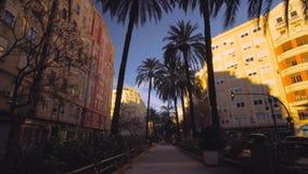 Центр города Валенсии Испании с современной архитектурой сток-видео