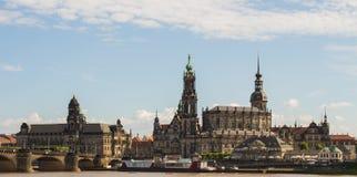 Центр города Дрездена горизонта Стоковое фото RF
