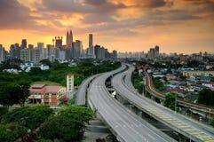 Центр города Куалаа-Лумпур (KLCC) Стоковые Изображения RF