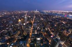 Центр города к городскому Манхаттану Стоковое Изображение RF