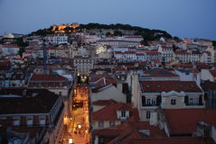 Центр города Лиссабона Стоковые Изображения RF