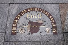 Центр города Мадрида Стоковое Изображение