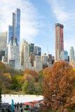 Центр города от Central Park в утре осени Стоковое Фото
