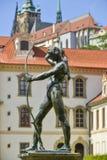 Центр города статуи Праги Стоковая Фотография