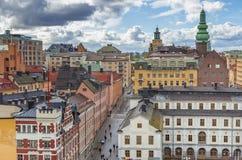 Центр города Стокгольма стоковые фотографии rf
