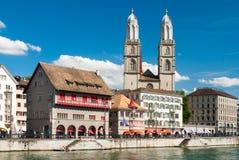 Центр города Цюриха Стоковое Изображение RF