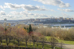Центр города Чебоксар Чебоксар взгляда Стоковое Изображение