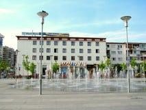Центр города Bacau стоковые фото