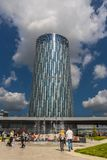 Центр города Floreasca, Бухарест, Румыния Стоковые Фотографии RF
