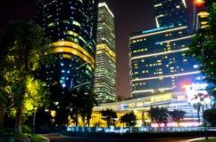 Центр города guangzhou в фарфоре Стоковая Фотография