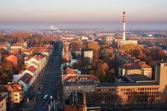 Центр города Klaipeda, Литвы в осени Стоковые Изображения RF