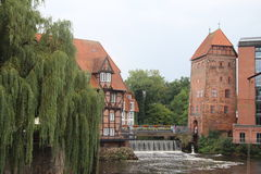 Центр города Lüneburg - Германия стоковые изображения rf
