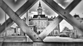 Центр города Novi унылый, Сербия Стоковые Изображения RF