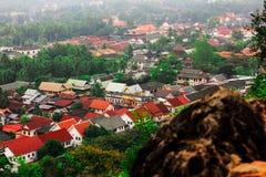 Центр города prabang Luang Стоковые Изображения RF