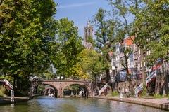 Центр города Utrecht Нидерланды Стоковое фото RF