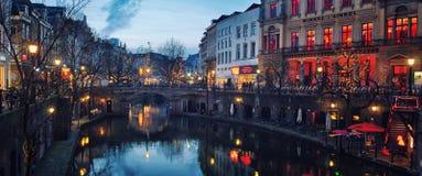Центр города Utrecht Стоковое Изображение