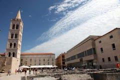 Центр города Zadar, форум, Хорватия стоковые фотографии rf