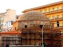 Центр городка Tessaloniki, Греции стоковое фото