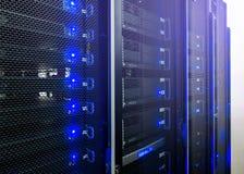 Центр данных, комната сервера стоковые изображения