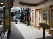 Центр искусства с другими малыми магазинами известный торговый центр Powerscourt как раз с улицы Grafton в Дублине заполнен с бри стоковые изображения