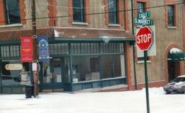Центр искусства Asheville африканский во время зимы стоковые изображения rf