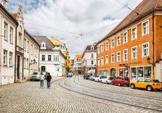Центр исторического города Аугсбурга, Германии стоковое изображение rf