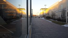 Центр кампуса на заходе солнца Стоковая Фотография RF