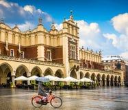 Центр Кракова - Польши исторический стоковые фото