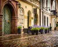 Центр Кракова - Польши исторический Стоковые Изображения