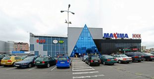 Центр магазина максимумов в улице Ukmerges города Вильнюса Стоковое Изображение