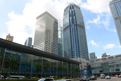 Центр международных финансов Гонконга Стоковая Фотография