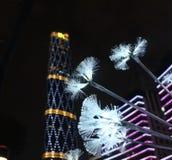Центр международных финансов Гуанчжоу и фонарик Стоковые Изображения RF