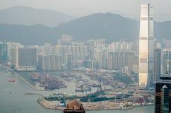 Центр мировой торговли, Гонконг, Китай стоковое изображение rf