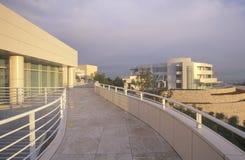 Центр на заходе солнца, Brentwood Getty, Калифорния Стоковые Фото